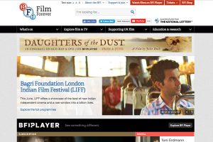 A section of the British Film Institute Home Page