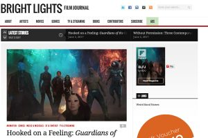 A section of the Bright Lights Film Journal Home Page