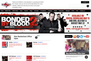 A section of the Britflix Home Page