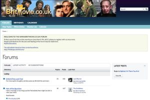 A section of the Britmovie.co.uk Home Page
