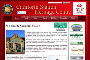 A section of the Carnforth Heritage Centre Home Page