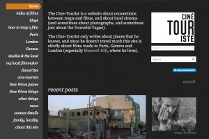 A Section of the Cine-Tourist Home Page