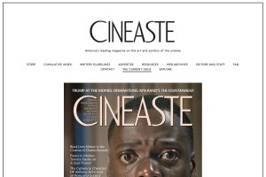 A section of the Cineaste Home Page