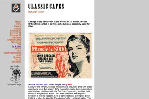 A Section of the Classic Cafes Home Page