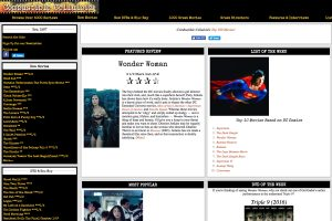 A section of the Combustible Celluloid Home Page
