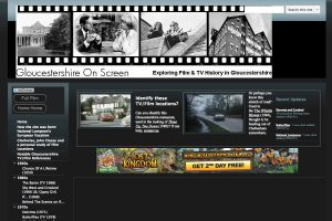 A section of the Gloucestershire on Screen Home Page