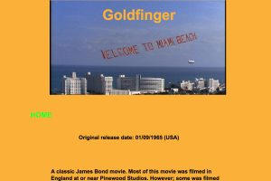 A section of the Goldfinger page to the Florida Movie Locations Home Page