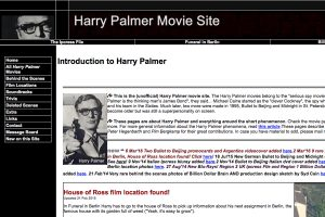 A section of the Harry Palmer Movie Site Home Page