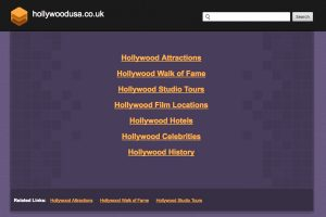 A section of the Hollywoodusa.co.uk Home Page