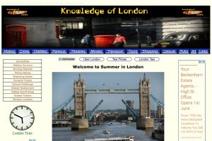 A section of the Knowledge of London Home Page