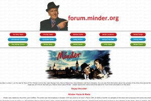 A Section of the Minder Home Page