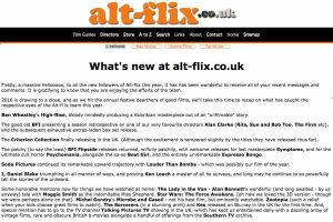 A section of the alt-flix.co.uk Home Page