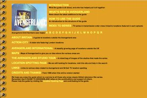 A section of Avengerland Home Page