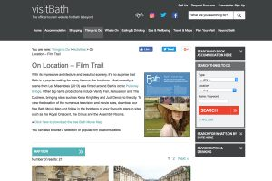 A section of Visiting the City of Bath Home Page