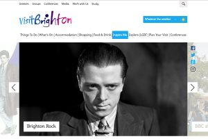 A section of the Visit Brighton Home Page