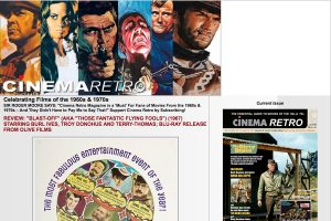 A section of the CinemaRetro Home Page