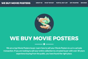 A section of the We Buy Movie Posters Home Page