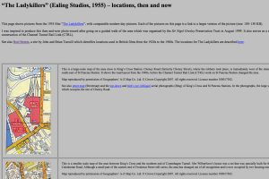 A section of The Ladykillers locations Home Page