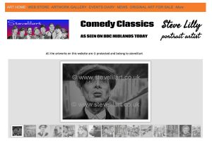 A section of the Stevelilart Home Page