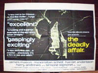 The Deadly Affair Original Horizontal Film Poster