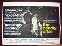 The Deadly Affair Original Horizontal Film Poster