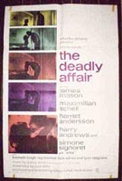 The Deadly Affair Original Vertical Film Poster