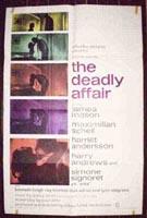 The Deadly Affair Original Vertical Film Poster
