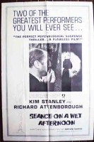 Seance on a Wet Afternoon Original Film Poster