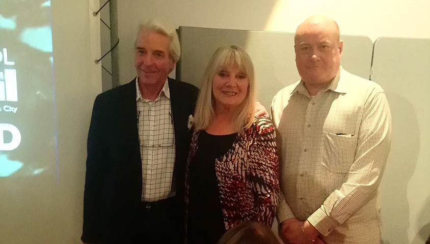 Richard, Anneke Wills and Phil at the Some People film event in Bristol